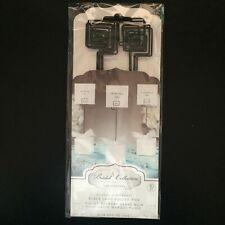 David Tutera Black Card Holder Pick, 8-Inch 10/pack Bridal Collection