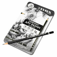 Set of 12 Lyra Rembrandt Art Design High Quality Graphite Graphics Art Pencils