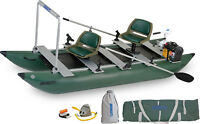 Sea Eagle 375fc Watersnake Venom 34 Motor Pkg Pontoon Fishing Boat Inflatable