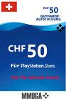 50 CHF PSN Playstation Network Guthaben Code PS5 PS4/3 PS Vita - Für Schweiz CH