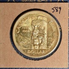 1958 Silver Dollar - Awesome Toning -  Gold -  see scan. Inv# S89