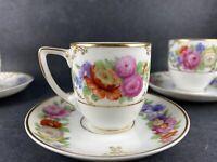 Antique Rosenthal The Dresden flat demitasse expresso cup saucer sets (4), 1924