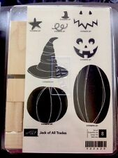 """JACK of all TRADES"" Stampin'UP! NEW~WOOD~ unmounted-Halloween 8/set JACK'O'Lant"