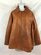 NWOT Wilson's M. Julian Men's Distressed Brown XL Leather Jacket insulated