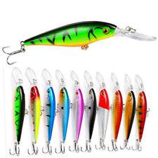 10pcs 11.5CM Minnow Fishing Lures Wobbler Tackle Crankbait  Hard Bait 6# Hook