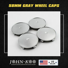 Set of 4pcs New Quality Car Auto Wheel Center Hub Caps 68mm/65mm No Logo Grey