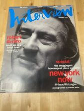 ANDY WARHOL INTERVIEW MAGAZINE November 1993 Robert Deniro