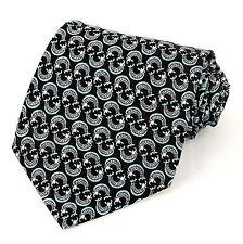 Ralph Marlin Fish Mens 100% Silk Dress Necktie Fashion Black Neck Tie New