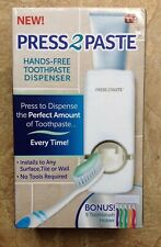 Press 2 Paste Hands-Free Toothpaste Dispenser As Seen on Tv