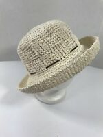 Natural Trim BUCKET HAT WOMENS PAPER Casual Comfort One Size Sun Outdoor Wear
