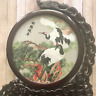 Rotatable Wooden Picture Holder Modern Round Bird Photo Frame Bedroom Decoration