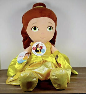 "DISNEY PRINCESS Baby BELLE Dance with Me 25"" Plush Music Sound Nap-Time NWT"