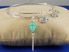 Alex And Ani Shiny Silver INSPIRATION IN FLIGHT KITE Adjustable Bangle Bracelet