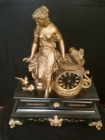 Antique Marble Mantle Clock