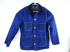 Vtg Blue Bell Wrangler Men's Dark Wash Denim Blanket Lined Chore Coat Size 44