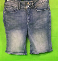 Women's Seven7 Distressed Denim Bermuda Shorts Blue size 6