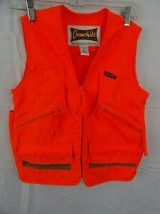 Gamehide Hunter's Blaze Orange Vest with Quilted Padded Shoulder NEW Size M