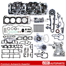85-95 2.4L TOYOTA PICKUP CYLINDER HEAD+HEAD GASKET BOLTS TIMING CHAIN KITS 22RE