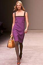 Prada White Label Mod Color block Jackie O Audrey H Shift Dress 42 IT 4-6 US