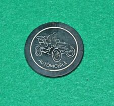 Antique Poker Chip -Automobile -Blue Clay Vintage Rare Old Gambling