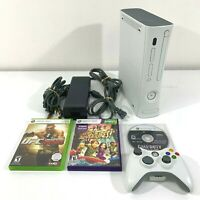 X Box 360 Console Bundle White, 1 Wireless Controller, 3 Games, Power Adapter