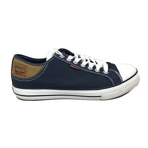 Levi Strauss Casual Shoes Mens Size 9 7197179 Blue Brown White Sneakers Lace Up