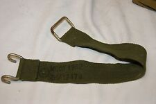 "BRITISH ARMY WEBBING 1958 PATT GREEN HEAVY DUTY STRAPS 18"" x 1.5 HOOK ANCHOR END"