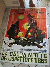 MANIFESTO 4F, LA CALDA NOTTE DELL'ISPETTORE TIBBS S,POITIER STEIGER 1967
