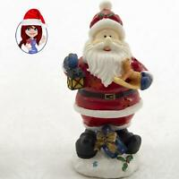 "Musical Christmas 10"" Santa with Lantern and Rocking Horse MINT CONDITION!"