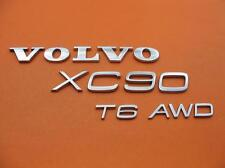03-14 VOLVO XC90 AWD T6 REAR LID CHROME EMBLEM LOGO BADGE SIGN SYMBOL OEM SET