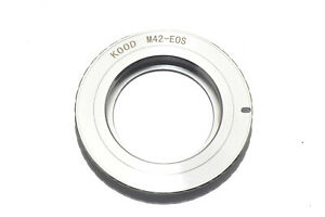 Camera Adapter M42 Lens to Canon EOS EF EFS Body M42-EOS Brass m42 - ef efs EOS