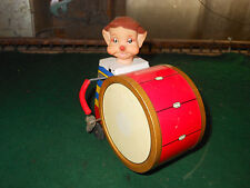 VINTAGE Litho Tin CLOWN DRUMMER   -  PICTURE BOX  -  DAIYA JAPAN