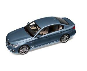 BMW G30 Limousine M Package Bluestone Metallic 1:18 Model Car Genuine New