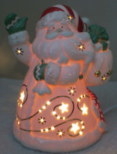 "Lenox Occasions ~ Lighted Porcelain Santa Figurine 2003 ~ 8""x6"" Hand Painted"