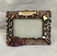 Silka Fishing 3D Resin Photo Frame Landscape 4x6 Outdoors Environment Trout Trip