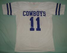 VTG 80s DALLAS COWBOYS SHIRT #11 90s NFL RAWLINGS MEDIUM DANNY WHITE JERSEY USA