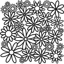 """Crafters Workshop Template 12"""" x 12"""" Daisy Cluster"""