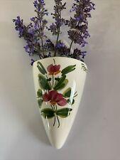 More details for vintage wall pocket posy holder ceramic country cottage retro perejil floral