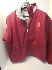 Stanford University Columbia Rover Jacket Red with Gray lining Mens XL NWT