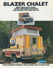 1976 1977 Chevrolet Blazer Chalet Camper Truck Brochure mx3604-X2Q75F