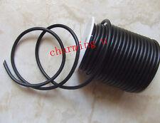 1mt  filo in caucciù sintetico 4mm colore nero foro 1,5mm