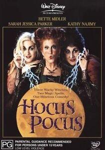 Hocus Pocus DVD - Disney Movie Witches Family Bette Midler AUST REG 4