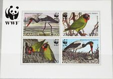 ZAMBIA SAMBIA 1996 Block 20 S/S WWF Vögel Birds Fauna Endangered Species MNH R !