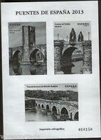 Prueba impresion calcografica 2013 Puentes de España sin dentar @ F.N.M.T.@