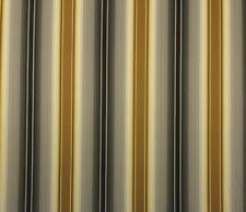 "WAVERLY TRENT ONYX D4071 BLACK BRASS STRIPE MULTIUSE FABRIC BY THE YARD 54""W"