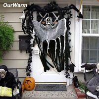 Skull Halloween Hanging Ghost Haunted House Grim Reaper Horror Props Door Decor