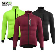 Mens Cycling Jacket Winter Thermal Fleece Jersey Tops Outdoor Riding Long Sleeve