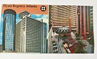 c.1972 Vintage Hyatt Regency Atlanta Georgia Large Postcard-Excellent Unposted