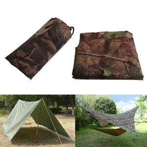 Portable Camo Tarp Waterproof Picnic Sheet Camping Sun Canopy Awning Tarp
