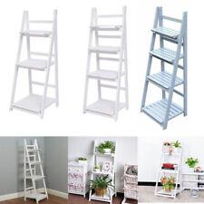 More details for wooden folding flowers stand ladder book shelf display racks garden storage unit